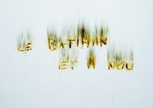 Le batiman et a nou. Nicolas Daubanes